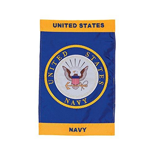 In the Breeze U.S. Navy Emblem Garden Flag
