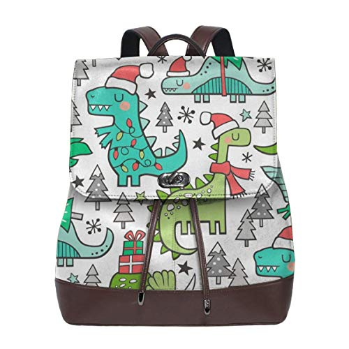 Fashion Leather Backpack Holiday Holidays Dinosaurs U Trees Smaller% Scale Purse Waterproof Anti Rucksack PU Leather Bags