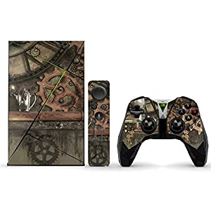 MightySkins Skin Compatible with NVIDIA Shield TV (2017) wrap Cover Sticker Skins Steam Punk Room
