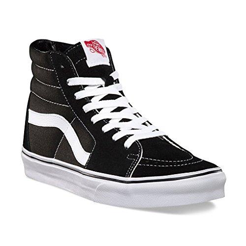 Vans SK8 Hi Unisex Sneakers Men/Women Shoes (5.0 men/ 6.5 women, Black/White) (Hi Sk8 Vans)