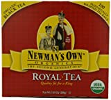 Newman's OwnOrganics Royal Tea, Organic Black Tea, 100 Individually Wrapped Tea Bags, 7.05-Ounce Boxes (Pack of 6)