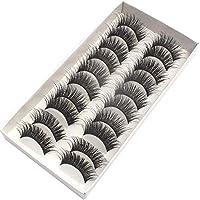 10 Pairs 3D Eyelashes Real 3D Mink Hair Luxurious 100% Siberian Mink Fur 3D False Eye Lashes for Beatuty Eye Makeup