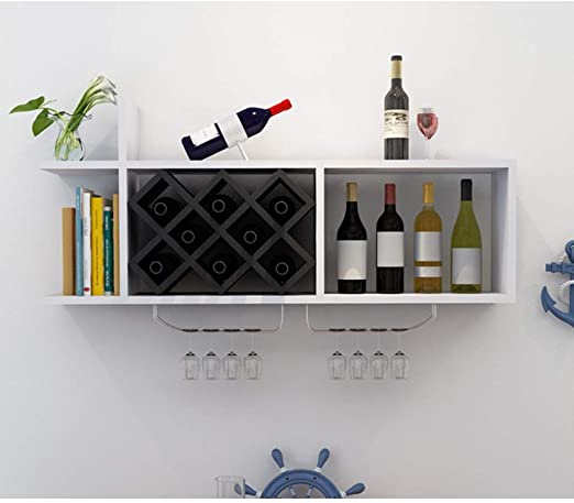 wine rack hanging on wall
