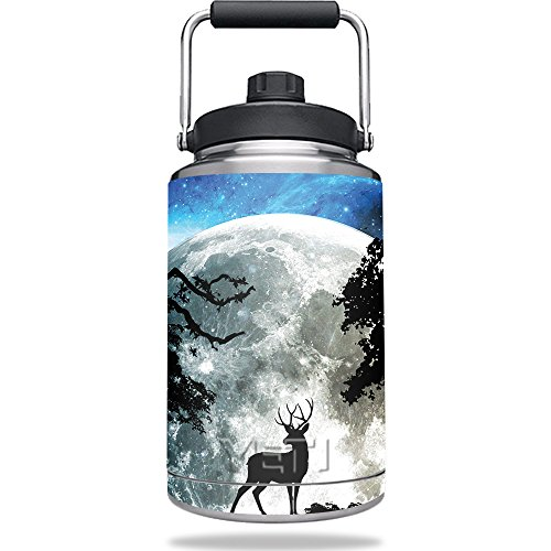 MightySkins Skin Compatible with Yeti One Gallon Jug - Moonlight Deer | Protective, Durable, and Unique Vinyl Decal wrap Cover | Easy to Apply, Remove, and Change Styles | Made - Gallon 1 Jug Deer
