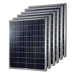 6 Pieces of HQST 100 Watt 12 Volt Polycrystalline Solar Panel