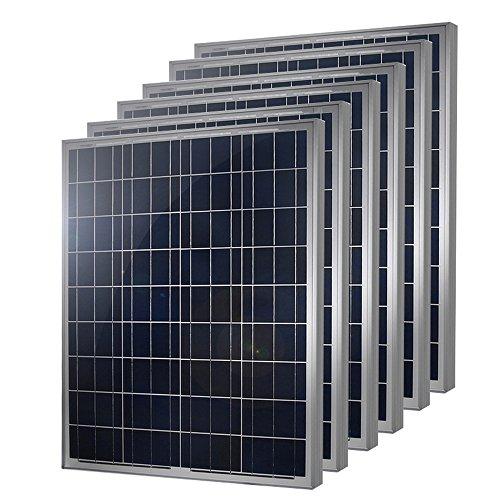 6 Pieces of HQST 100 Watt 12 Volt Polycrystalline Solar Panel