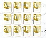 2018 Desktop Half Circle Calendar, 2018 Calendar, Wall Hanging, Real Gold Foil, Card Stock Paper, Handmade Paper, Modern Art, Christmas Gift