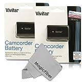 (2 Pack) Vivitar NP-FV70 Ultra High Capacity 2300mAH Li-ion Batteries for SONY HDR-CX190, DCR-SX44, DCR-SX63, DCR-SX83, DCR-SR68, DCR-SR88, HDR-CX550V, HDR-CX500V, HDR-CX350, HDR-CX300, HDR-CX260V, HDR-CX150, HDR-CX110, HDR-CXR150, XR350V, XR550V, HDR-VG20H, HDR-TD20V, HDR-PJ760V, HDR-PJ710V, HDR-PJ580V, HDR-PJ260V, HDR-PJ200 (Sony NP-FV70 Replacement)