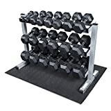 Body Solid GDR363-RFWS Dumbbell Rack with Rubber Dumbbells (Sports)