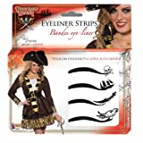 Forum Novelties Women's Beauty Adhesive Eyeliner Strips Kit, Multi, One Size