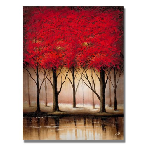 Trademark Fine Art Serenade in Red by Master's Art Canvas Wall Art, 24x32-Inch