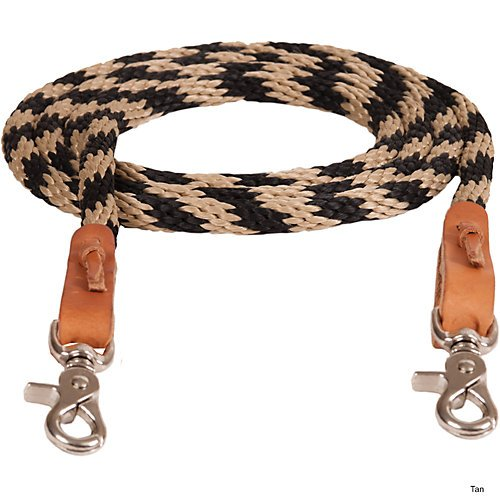 Mustang Round Braided Trail Reins Tan