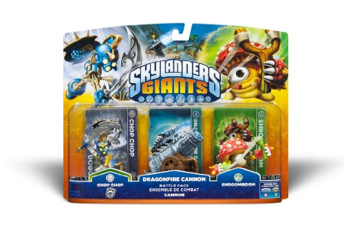 Skylanders Giants Battlepack #1 - Chop Chop - Dragonfire Cannon - Shroomboom -