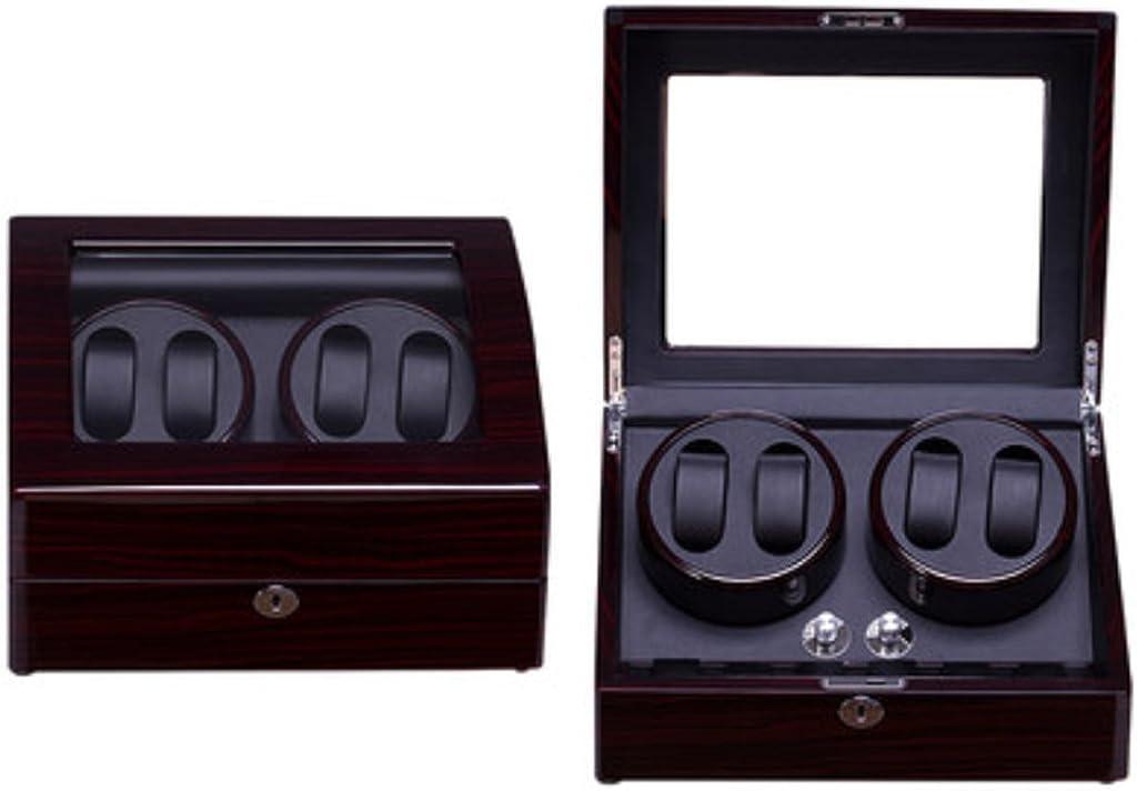 Caja Relojes Automaticos Automático Reloj Winder Shake Reloj Dispositivo Reloj mecánico automático Superior Caja de la Cadena Mesa giratoria Brazo Superior oscilante medidor de sacudidas.