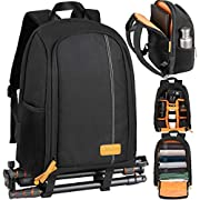 TARION Camera Backpack Waterproof Camera Bag Large Capacity Camera Case with 15 Inch Laptop Compartment Rain Cover for…