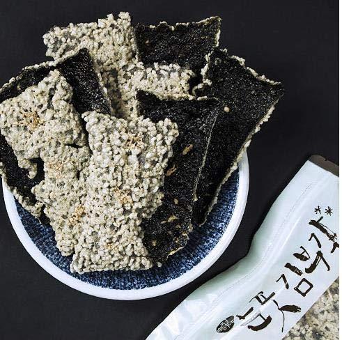 Korea Healthy Food Jeonju Blossom of snow Laver Seaweed Crisp Snack Kim Bu Gak 30gram x 6 눈꽃 김스낵 김부각 by G FRESH (Image #5)