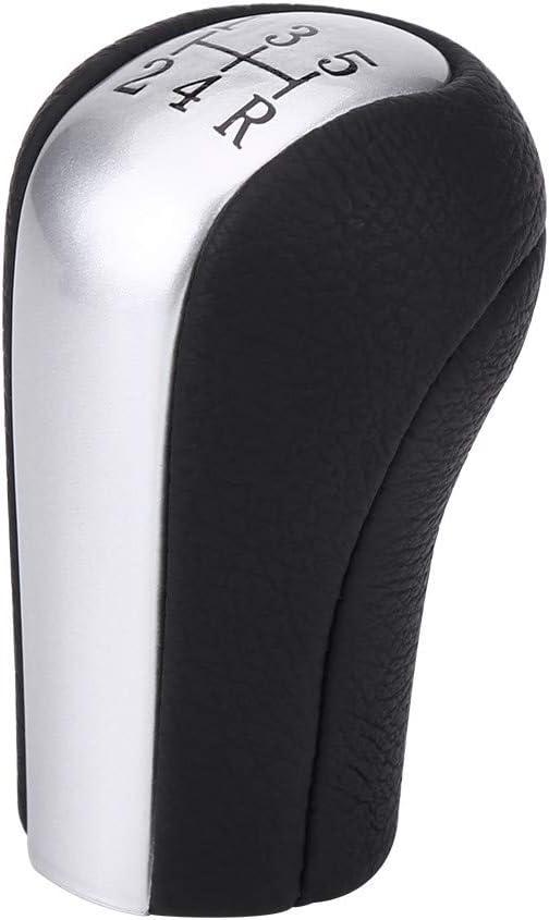EVGATSAUTO Car 5 Speed Manual Gear Shift Lever Knob Stick Head Gearstick Gaiter Boot Fit for Toyo-ta Corolla ex 1998 1999 2000 2001 2002 2003 2004 2005 2006 2007 2008 2009