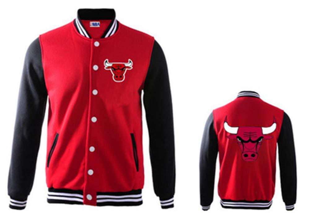 Rot Und Schwarz,#2XL Baseball-Uniform # Chicago Bulls Casual Warmer Mantel 180~185cm Jacke Dicke Kleidung Basketball YDYL-LI Herbst Und Winter M/änner Und Frauen