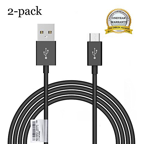 Liujie [2-Pack] 3feet/1m Micro USB Cables High Speed USB 2.0 A Male to Micro B Sync and Charge Cables for Android, Samsung, HTC, Motorola, Nokia and More(black)
