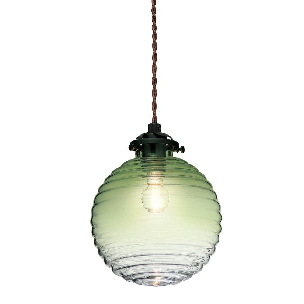 ペンダントライト トゥルク 小形LED電球付 グラデーショングリーン LT-2651GN LT-2651GN B076T71Y22 グラデーショングリーン