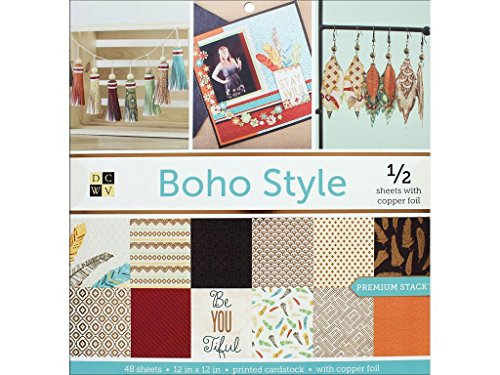 - Die Cuts with a View DieCuts Prints Boho Style Paper Stack 12x12