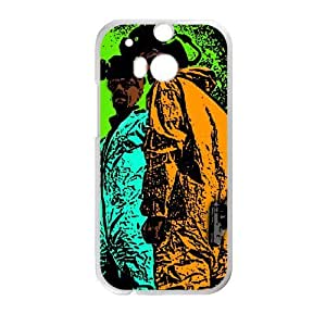 breaking bad cartoon hd HTC One M8 Cell Phone Case White custom made pgy007-9970222