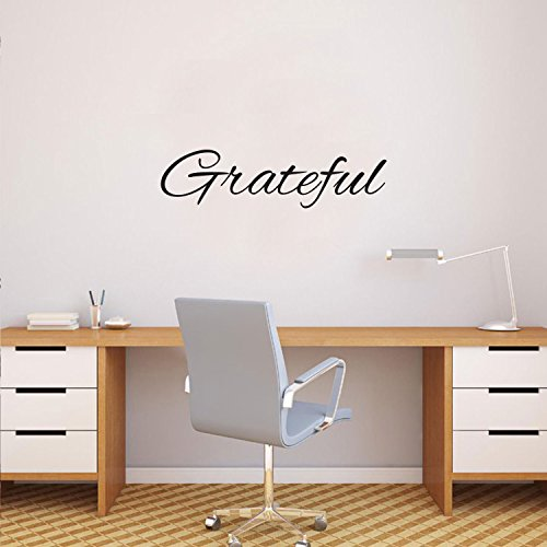 Wall Removable Vinyl Lettering - Inspirational Quotes Wall Art Decal - Grateful Vinyl Lettering Words - 6