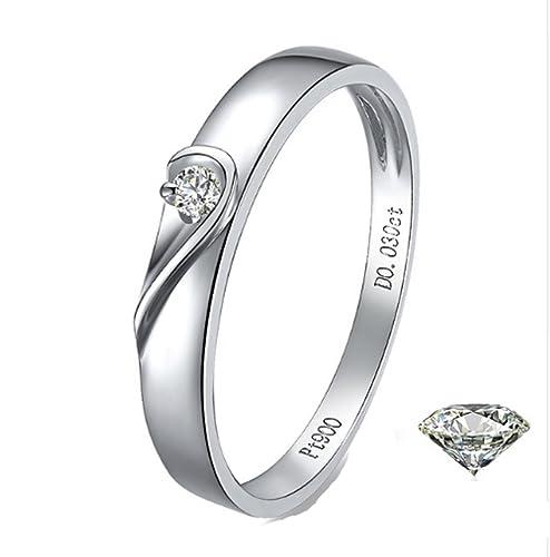 Amazon.com: Gowe 18 K oro puro los amantes anillo diamantes ...