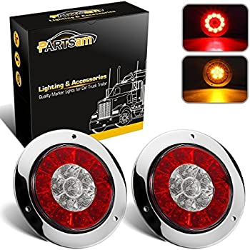 """Amazon.com: Partsam 4"""" inch Round Truck Trailer Led Tail"""