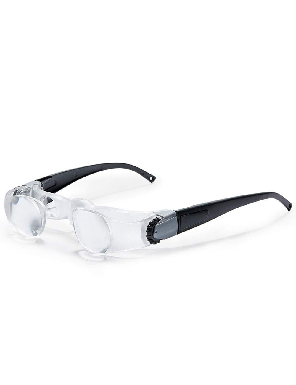 GZRR Magnifier Head-Mounted High-Definition Glasses-Type Portable Magnifying Glass, Reading The Elderly Computer Repair Watch Stamp Identification Tool can Adjust The Zoom Upgraded Version