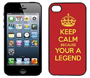 InCaseIt - Keep Calm Legend Hard Shell Case for iPhone 4 4S+ Screen Protector BLACK