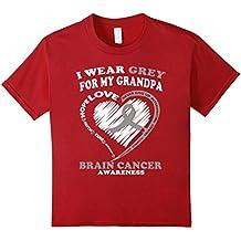 Brain Cancer T Shirt - I Wear Grey For My Grandpa