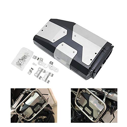 KKmoon Aluminium Motorcycle Side Box Motorcycle Tool Box Left Side Bracket Aluminum Box Fit for BMW R1250GS R1200GS LC & Adventure 2002 2008 2018