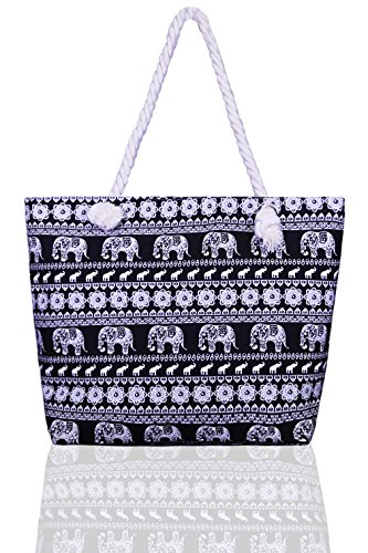 basico-beach-tote-bag-with-rope-handles-elephant-arabesque