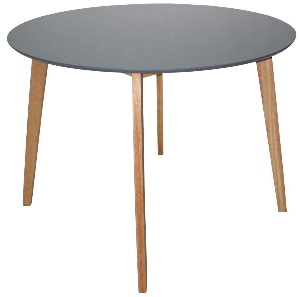 KMH®, Runder Esszimmertisch Hilde (Ø 105 cm) grau ( 201204)