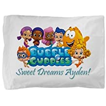 Bubble Guppies Personalized Pillowcase Kids Childs Toddler Boy Girl Pillow Case Bedding Bedroom Decor (2)