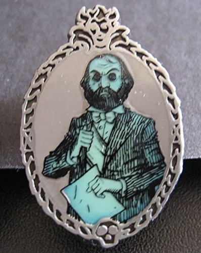 (Disney Parks Haunted Mansion Glow in the Dark Pin ~ Ghost with a Beard)