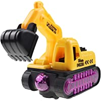 Deals on Qiuue Children Electric Excavator Flash Music Toy Car