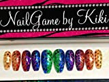 Rainbow Vibe Hand Designed Press-on Nails Handmade Nail Set