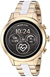 Michael Kors Access Womens Runway Touchscreen Smartwatch Stainless Steel Bracelet watch, Two tone Gold tone and white, MKT5057