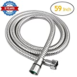 HOMEIDEAS 59-inch Shower Hose Bathroom Stainless Steel Extra Long Shower Head Hose Toilet Handheld Showerhead Sprayer Extension Replacement,Polished Chrome
