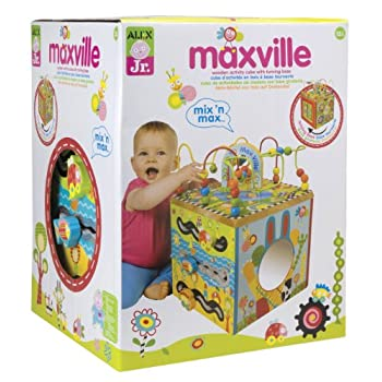 Image of Alex Jr. Maxville Wooden Baby Toddler Activity Cube