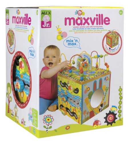 ALEX Jr. Maxville Wooden Activity Cube -