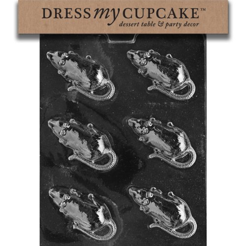 Dress My Cupcake DMCH056 Chocolate Candy Mold, Rat, Halloween -
