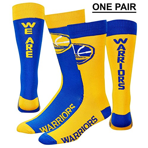 """Golden State Warriors Youth Size """"We Are Warriors"""" Big Top MisMatch Kids Socks (four-eight YRS) 1 Pair – DiZiSports Store"""