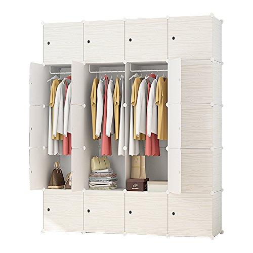 Design My Own Kitchen Online Free: ETTBJA DIY Plastic Wardrobe Portable Wooden Pattern Closet