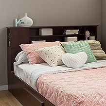 South Shore Furniture Vito Full/Queen Bookcase Headboard (54/60-Inch), Sumptuous Cherry