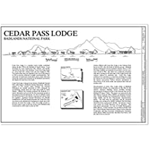 Structural Drawing title sheet with statement of significance, site section and location maps. - Cedar Pass Lodge, 20681 South Dakota Highway 240, Interior, Jackson County, SD 44in x 30in