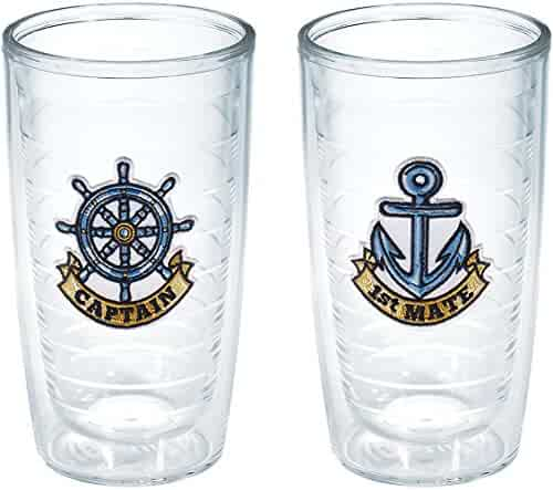 Tervis Captain First Mate Emblem Bottle, 16-Ounce, Pack of 2, On The Water - 1168889