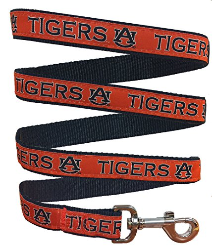 Pets First Collegiate Pet Accessories, Dog Leash, Auburn Tigers, Large